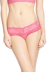 B.Tempt'd Women's By Wacoal 'Lace Kiss' Hipster Briefs Pink Yarrow