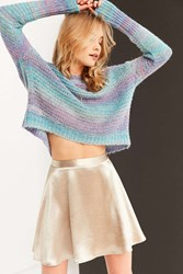 Ecote Daybreak Gradient Stripe Sweater Blue Multi