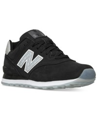 New Balance Men's 574 Reptile Casual Sneakers From Finish Line Black