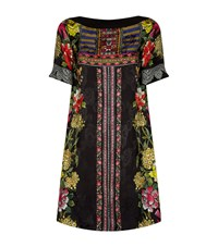 Etro Floral Print Silk Tunic Dress Multi