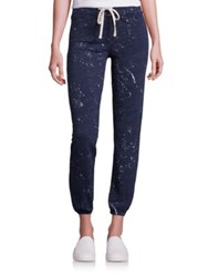 Sundry Textured Blended Cotton Pants Navy
