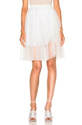 Rodarte Lace Tiered Wrap Skirt In White