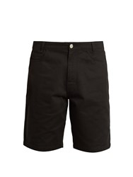 Raf Simons Wide Leg Cotton Shorts Black