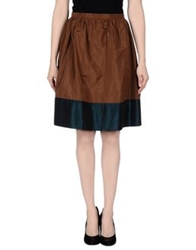 So Nice Knee Length Skirts Cocoa