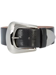 Nina Ricci Metal Tip Belt Leather Black