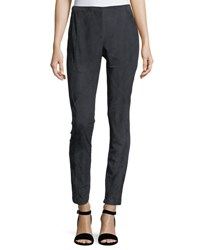 Lafayette 148 New York Suede And Ponte Riding Leggings Ink