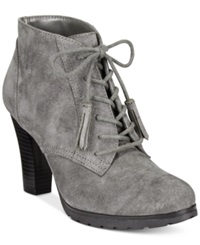 White Mountain Shauna Lace Up Booties Women's Shoes Charcoal