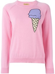 Peter Jensen Intarsia Ice Cream Jumper Pink And Purple