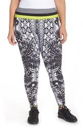 Plus Size Women's Pink Lotus 'Stealth' Print Leggings