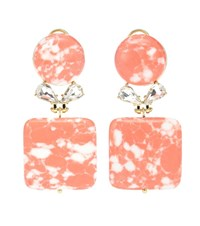 Lele Sadoughi Stone Starlet Earrings Pink