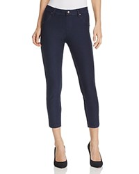 Hue Essential Denim Capri Leggings Deep Indigo Wash