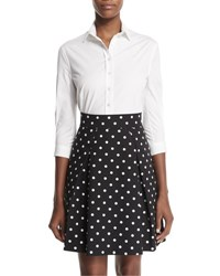 Carolina Herrera Polka Dot Party Skirt Black White Black White