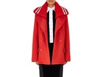 Givenchy Women's Wool Peacoat And Removable Collar Red