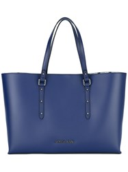 Armani Jeans Shopper Tote Women Polyester Pvc One Size Blue