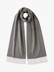 Johnstons Of Elgin Classic Cashmere Scarf Grey