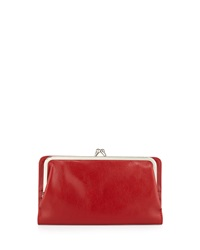 Hobo Diane Leather Continental Wallet Red