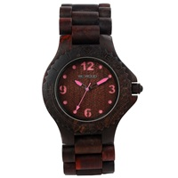 Wewood Kale Wood Watch Chocolate Pink