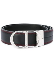 Christian Dior Homme Logo Buckle Belt Black