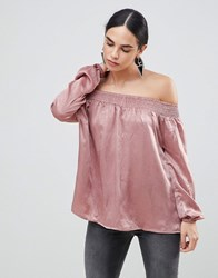 Ax Paris Off The Shoulder Top Pink
