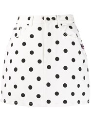 Marc Jacobs Fitted Polka Dot Print Skirt 60
