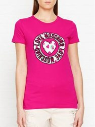 Love Moschino Embroidered Watermelon Heart T Shirt Pink