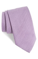 Eton Men's Geometric Wool And Silk Tie Lilac