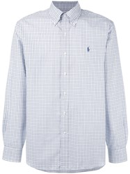 Polo Ralph Lauren Plaid Button Down Shirt White