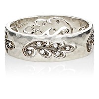 Cathy Waterman Women's Cutout Paisley Leaf Band Silver No Color Silver No Color