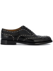 Church's Burwood Studded Brogues Leather Rubber Black