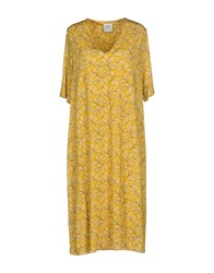 Cinzia Rocca Dresses Knee Length Dresses Yellow