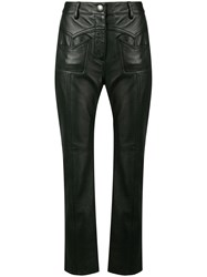 Coach Skinny Fitted Trousers Black