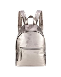 French Connection Jace Small Metallic Backpack Gray