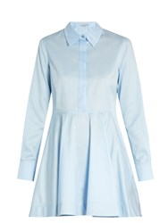 Stella Mccartney Leile Point Collar Cotton Shirtdress Light Blue