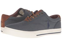 Polo Ralph Lauren Vaughn Denim Two Tone Twill Men's Lace Up Casual Shoes Black