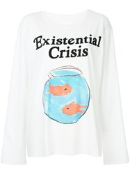 Ashish Graphic Print Sweatshirt White