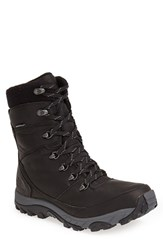 The North Face Men's 'Chilkat Ii' Waterproof Leather Snow Boot Tnf Black Zinc Grey