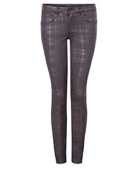 Dex Plaid Skinny Jeans Black