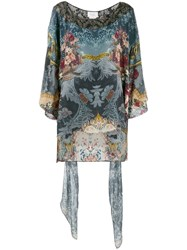Camilla Embellished Printed Tunic Blue
