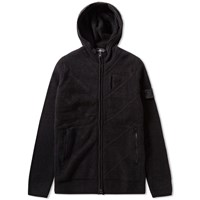 Stone Island Shadow Project Winter Cotton Intarsia Hooded Jacket Black