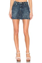 Blank Nyc Denim Mini Skirt Side Hustle