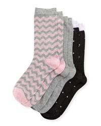 Neiman Marcus Three Pair Sock Set Assorted Gray