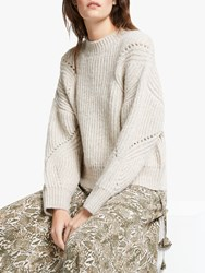 And Or Annabel Textured Knit Jumper Natural