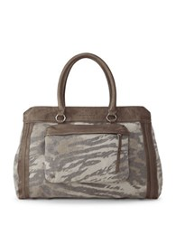 Liebeskind Lome Leather Shopper Tote Brown Zebra