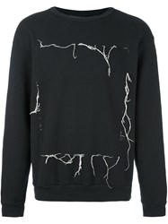 Enfants Riches Deprimes Loose Thread Sweatshirt Black