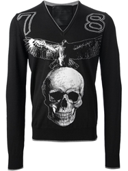 Philipp Plein Graphic Sweater Black