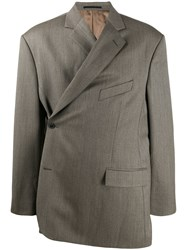 Martine Rose Side Fastening Blazer Brown