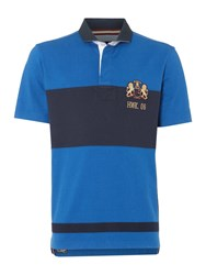 Howick Molsom Panelled Short Sleeve Rugby Shirt Royal