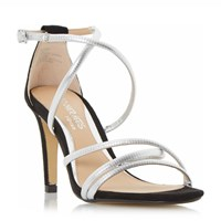 Head Over Heels Maggda Tubular Strap Sandals Silver