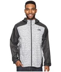 The North Face Flyweight Hoodie Asphalt Grey Reign Camo Print Asphalt Grey Men's Sweatshirt Gray