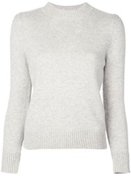 Co Fitted Cashmere Jumper Grey